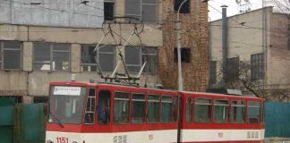 """Трамвайний вагон """"Tatra KT4D"""", придбаний у 2008 році в Ерфурті"""