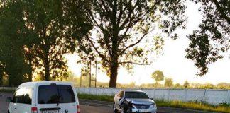 У Самборі перекинувся автомобіль