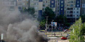 У Львові згоріла маршрутка