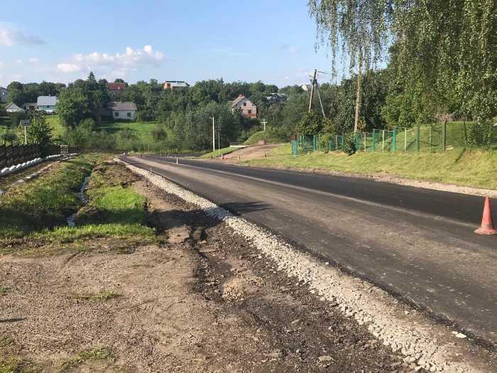 """На Самбірщині закінчили ремонт дороги """"Кружики-Нагірне"""""""