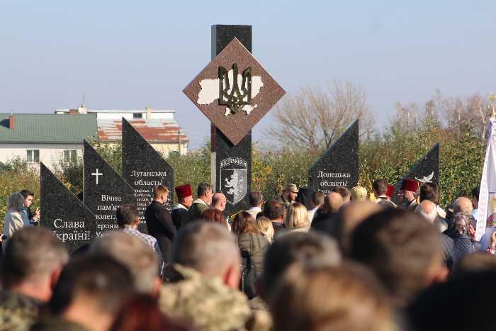 На Яворівщині відкрили меморіал пам'яті воїнам 24-ї Королівської бригади. Фото прес-служба ЛОР