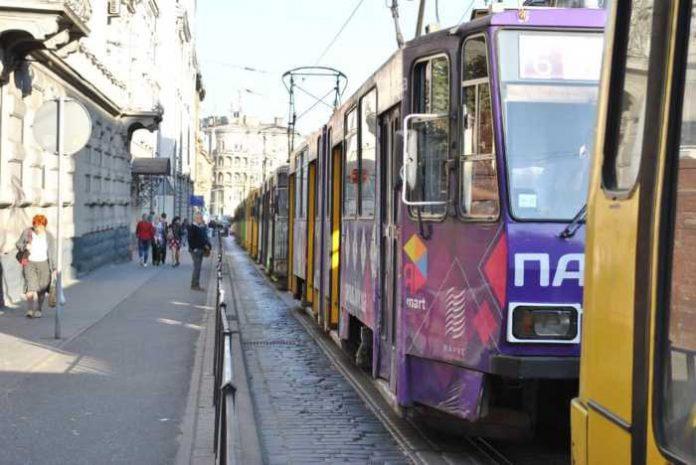 На вулиці Городоцькій не курсували трамваї. Фото Варта-1