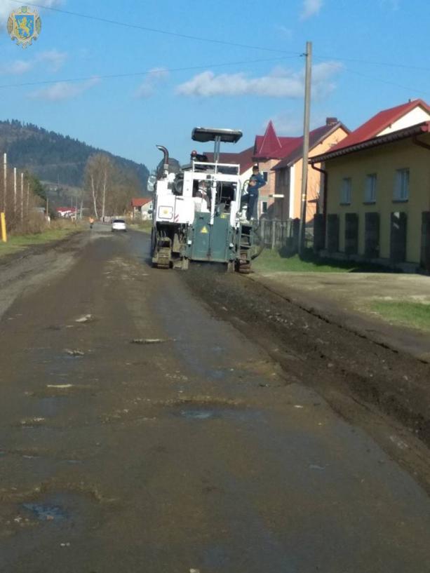 На Львівщині розпочали ремонтні роботи дороги Турка - Ільник