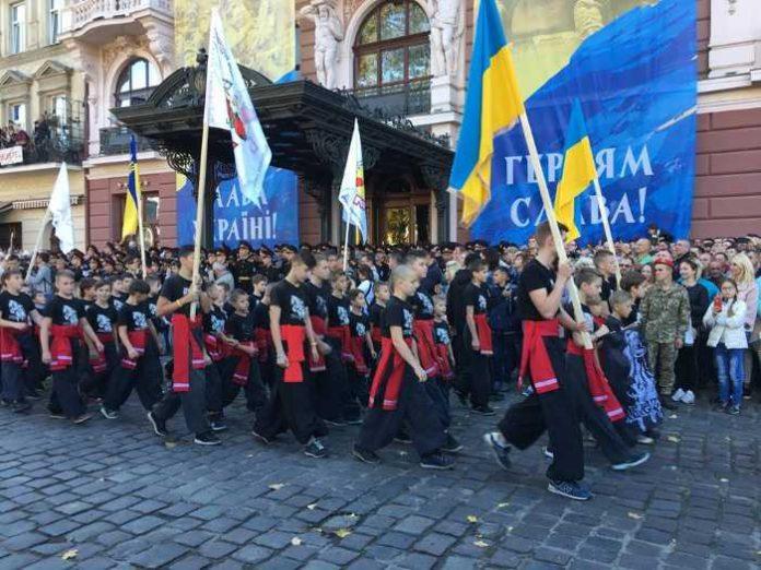 Вулицями Львова пройшов масштабний Марш захисників України. Фото прес-служба ЛОДА