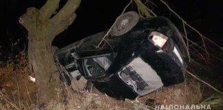 На Самбірщині автомобіль «Кіа» в'їхав у дерево, загинув пасажир