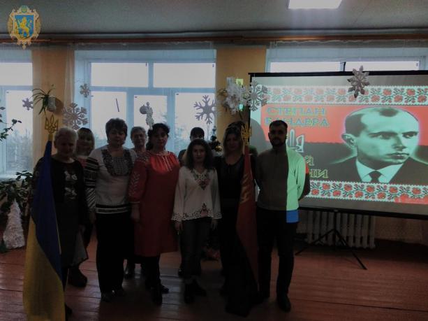 На Львівщині відбувся флешмоб до 110-ї річниці з дня народження Степана Бандери