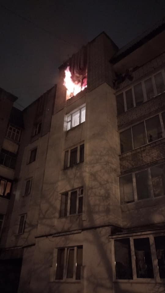 Пожежа на вулиці Варшавській у Львові. Фото Варта1