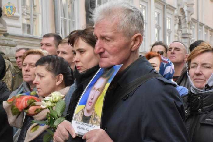 Львівщина прощається із загиблим військовослужбовцем Богданом Слободою