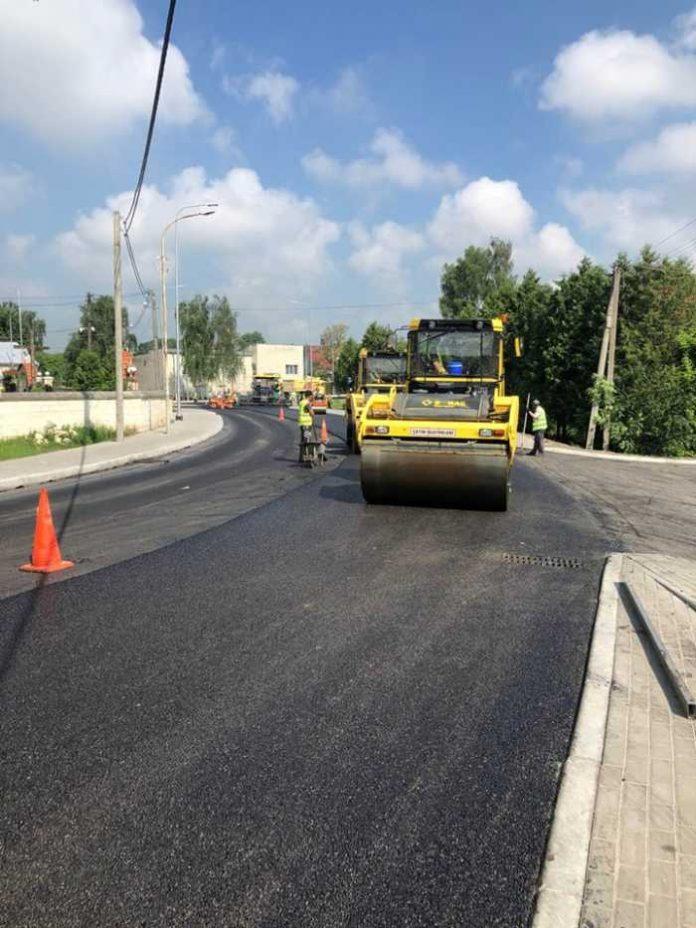 Як на Львівщині ремонтують дорогу у Щирець. Фото САД Львівщини