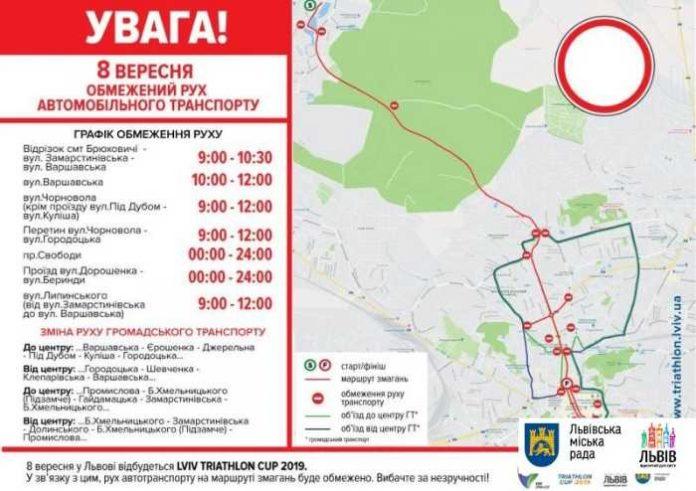 Міжнародні змагання Lviv Triathlon Cup відбуватимуться на різних дистанціях