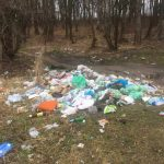 Як на Львіщині замість первоцвітів зійшли гори сміття. Фото: Олексій Мінтій.