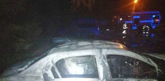 У Львові згорів автомобіль. Фото: ДСНС.